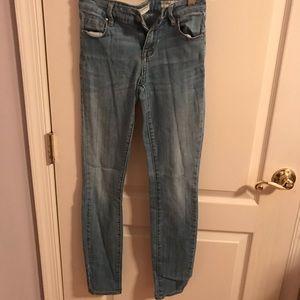 Light wash jeans from Bullhead company size 24